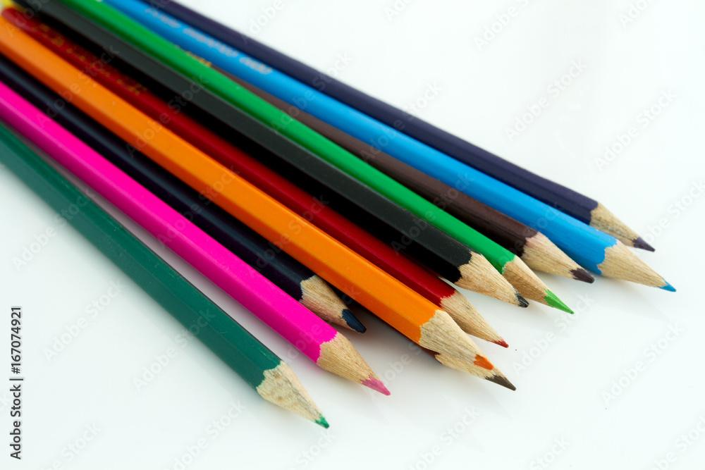 Fototapeta crayons de couleurs