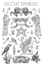 Graphic Set With Occult Symbol...