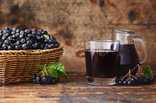 Photo Stands Juice Aronia Berry Juice