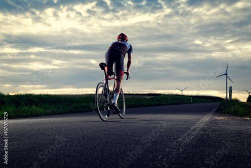Garden Poster Cycling Rennradfahrer von hinten