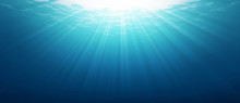 Underwater Blue Sea Background...