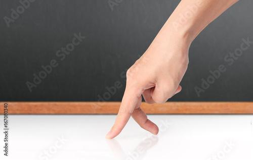 Spoed Fotobehang Gymnastiek hand sign isolated