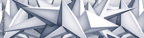 Volume geometric shape, 3d crystal background, abstraction low polygons wallpaper, vector design form - 167086756