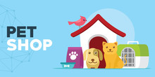 Pet Shop With Cats And Dogs Ho...
