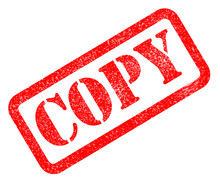Copy Red Rubber Stamp On White...