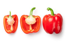 Red Peppers Isolated On White ...
