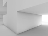 Abstract white interior with geometric niche
