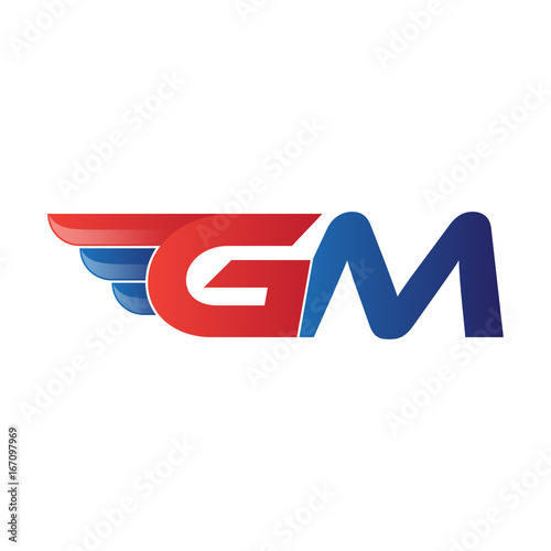 fast initial letter gm logo vector wing buy this stock vector and rh stock adobe com gm canada logo vector genuine gm parts logo vector