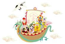 七福神 福の神 宝船