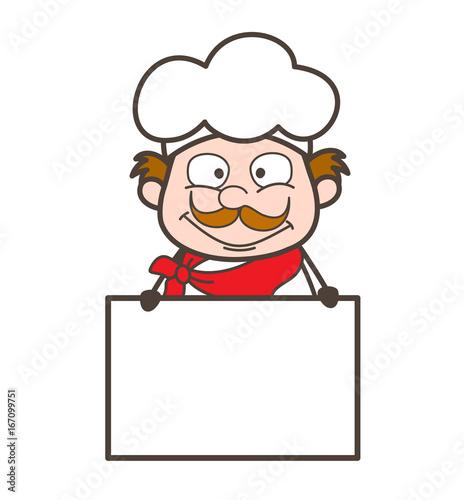 Fotografía  Cartoon Cooky with Ad Banner Vector Illustration