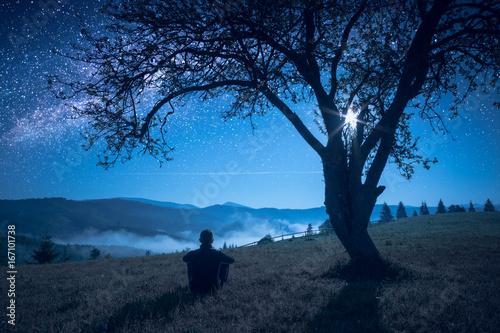 Plakat Oglądaj nocne niebo