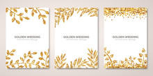 Banners Set With Gold Floral P...