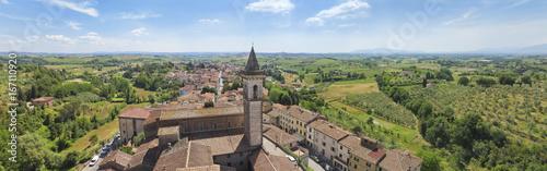 Canvastavla Toskana-Panorama, Vinci im Chianti-Gebiet (Geburtsort von Leonardo da Vinci)