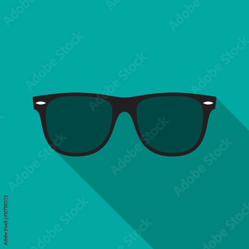 Tela  Sunglasses icon with long shadow