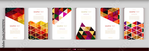 Fotografia  Abstract geometric business card Set.