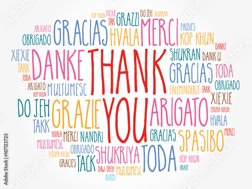 Fotografie, Obraz  Thank You word cloud in different languages, concept background