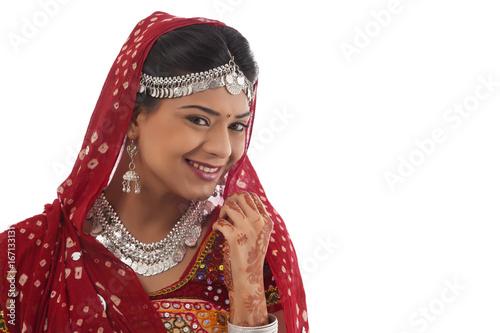 Poster Gypsy Portrait of a female dandiya dancer