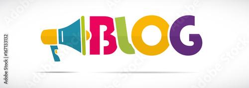 Fotografering  mégaphone mot : blog