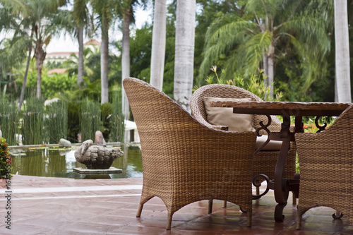 Tropical Patio Furniture - Tropical Patio Furniture - Buy This Stock Photo And Explore Similar