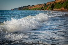 Foamy Wave Rushes To Shore
