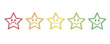 Sterne Bewertung Feedback Weiß