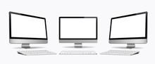 Desktop Computer Screen With K...