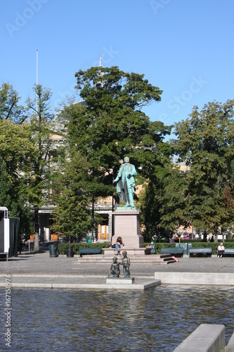 Photo  View of the historic city centre of Oslo, the capital of Norway