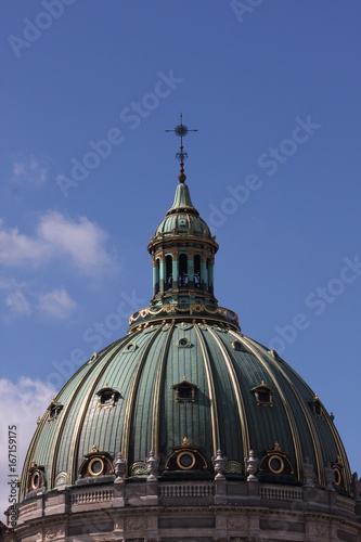 Details on Frederik's Church or Frederiks Kirke, popularly known as The Marble Church Marmorkirken for its rococo architecture, is an Evangelical Lutheran church in Copenhagen, Denmark Poster