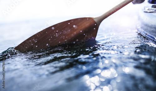Canvas-taulu Ruder im Wasser