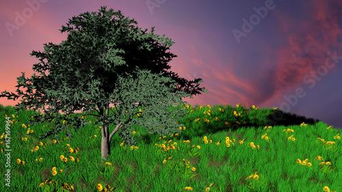 Tuinposter Groene pol 9f