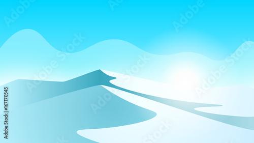 Printed kitchen splashbacks Light blue Ice landscape. Mountain and ice. Vector eps 10