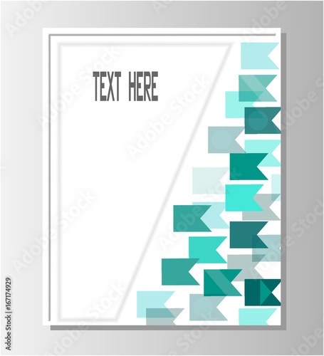 brochure template design with blank space for text buy this stock