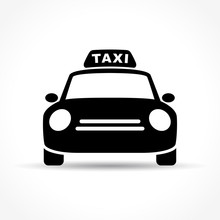 Taxi Icon On White Background