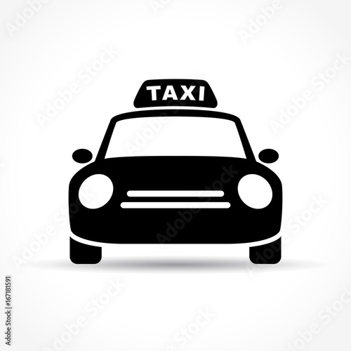 Foto taxi icon on white background