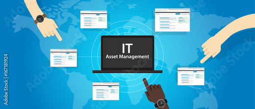 IT Asset Management or ITAM concept of managing information technology resources Canvas Print
