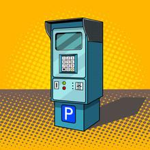 Parking Meter Pop Art Style Ve...