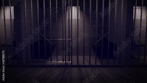 Fotografie, Obraz  a prison at night
