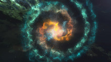 Glowing Spiral Of Nebula Galax...