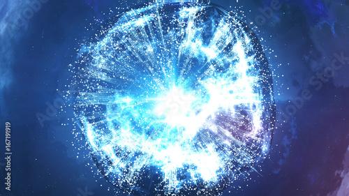 Fotografie, Obraz Abstract Big Bang Creation