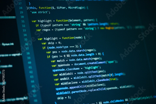 Fotografía  Software computer programming code