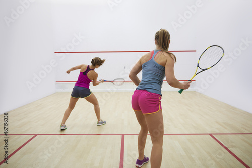 Fotografiet  Great endurance of two squash players