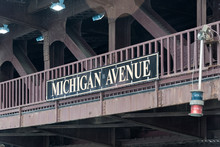 Big Michigan Avenue Sign On A ...