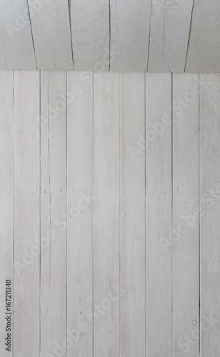 Fototapeta New white wooden background, freshly painted white boards obraz na płótnie