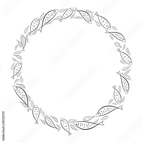 Circle frame Fototapeta
