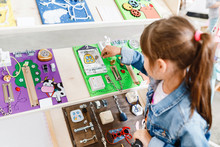 Busy Board For For Children It Is An Educational Game That You Can Touch With Your Hands