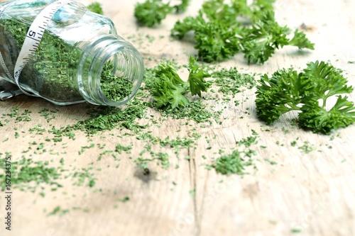 Fototapeta Dried herb parsley leaves obraz na płótnie