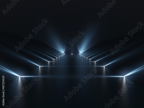 Obrazy czarne  futuristic-dark-podium-with-light-and-reflection-background