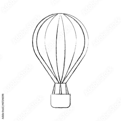 balloon air hot icon vector illustration design Fototapeta
