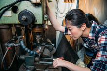 Factory Female Staff Adjust In...