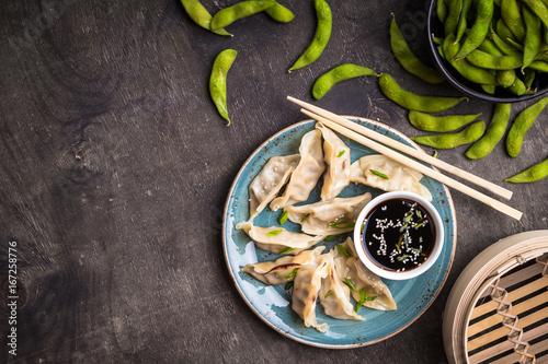 Photo  Chinese dumplings background